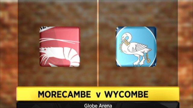 Morecambe v Wycombe graphic
