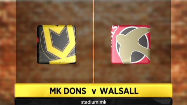 MK Dons v Walsall graphics