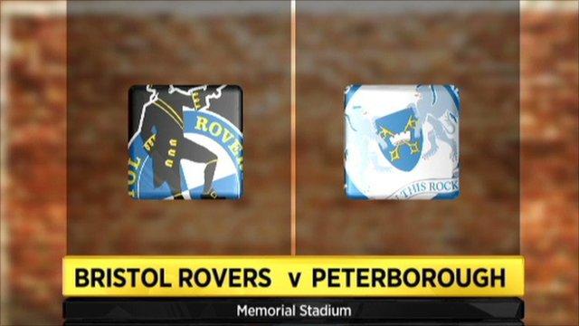 Bristol Rovers v Peterborough graphic