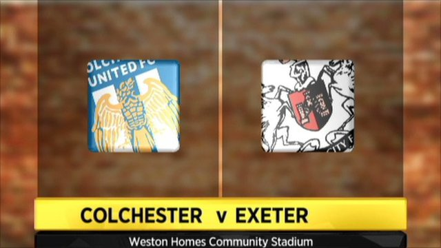 Colchester v Exeter graphic