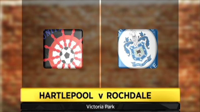 Hartlepool v Rochdale graphic
