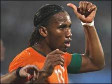 Ivorian captain Didier Drogba