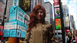 Anna Chapman in undated photo from Russian social networking site Odnoklassniki - released 28 June 2010