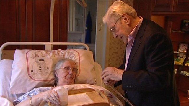 Dementia carer Hans de Jager and his wife