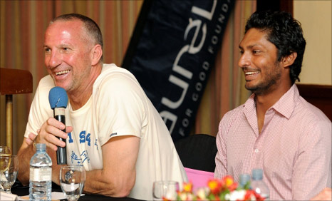 Ian Botham and Sri Lanka captain Kumar Sangakkara