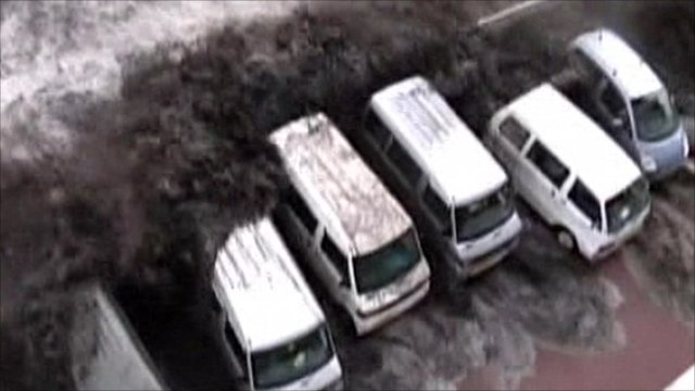 Japan tsunami scene