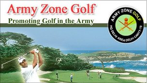 Army golf course in India