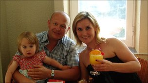 Gary Vigors, his partner Sarah Fulton and their daughter Nicole