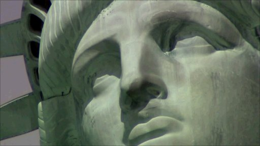 Close up of the Statue of Liberty