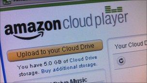 Amazon cloud player screen