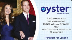 Royal Wedding Oyster card