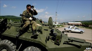 Security forces in Ingushetia - file pic