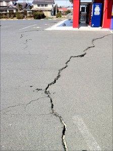 Earthquake crack. Pic: Dai Saito
