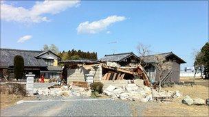 Property ruined by earthquake. Pic: Dai Saito