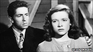 Farley Granger with Cathy O'Donnell in They Live By Night