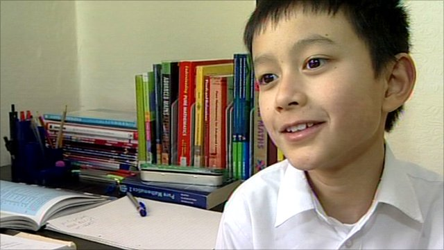 Yasha Asley, 8, attends a state school in Leicester