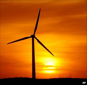 Wind turbine, China (Image: AP)