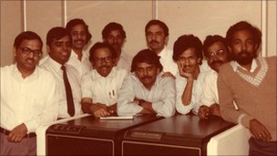 The team at Infosys in the early days