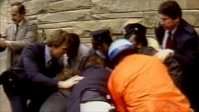 The moment President Reagan was shot