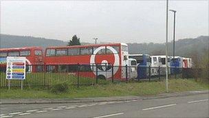 Veolia bus at depot