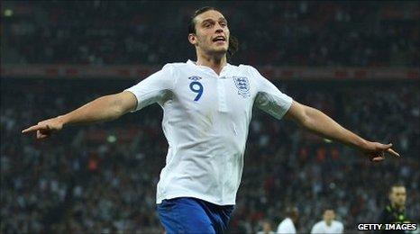 England goalscorer Andy Carroll