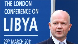 William Hague arrives at the conference