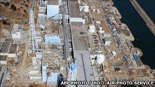 Aerial view of Fukushima No1 nuclear power plant