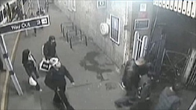CCTV footage from Penge East station