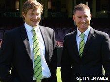 Shane Watson and Michael Clarke