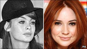 Jean Shrimpton (left) and Karen Gillan