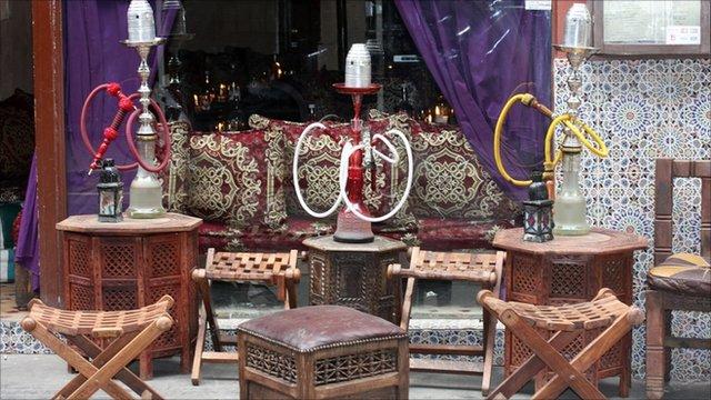 Shisha pipe cafe