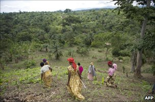 Ugandan women farming in the west of the country