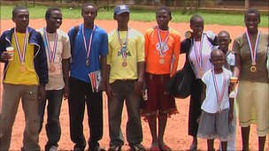 Chess players from the Sports Outreach Institute project at the Uganda National Schools Chess Competition in 2009