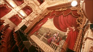Inside of the Lyceum Theatre in Sheffield