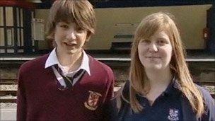 Sam Faulkner and Joanne Griffiths