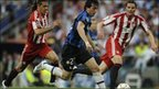 Action from Inter Milan v Bayern Munich in the 2010 Champions League final