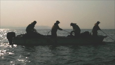 Shin Futsu fishermen at work