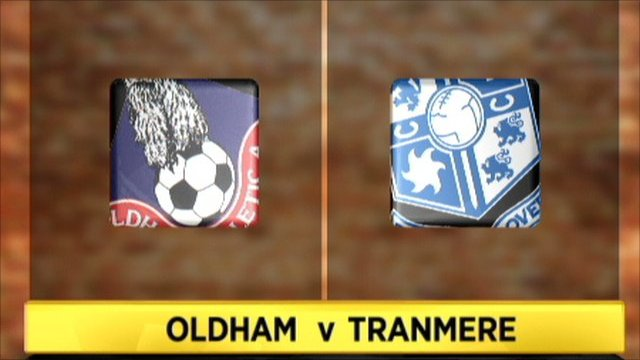 Highlights - Oldham v Tranmere