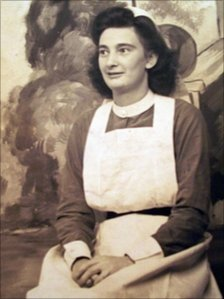 Ethel Lote in nursing uniform