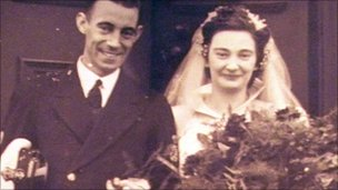 Ethel and Albert on their wedding day