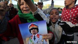 Pro-Gaddafi rally in Tripoli. 11 March 2011