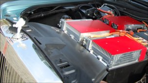Battery pack in the Rolls-Royce EX102 Phantom Experimental Electric