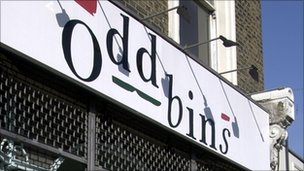 Oddbins store front