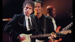 US singer Bob Dylan