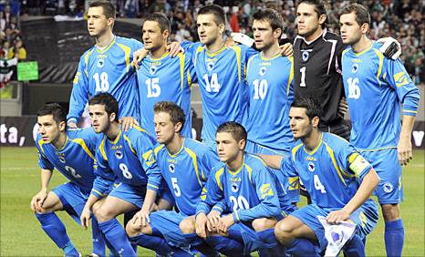 Bosnia pose for a team photo