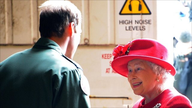 Prince William greets his grandmother, the Queen