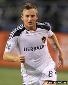 Chris Birchall in action for LA Galaxy