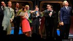 Actor Daniel Radcliffe and cast on stage in Broadway