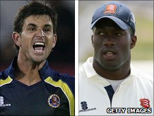 Ryan ten Doeschate and Maurice Chambers