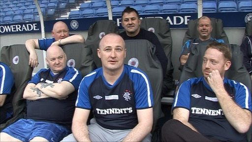 Rangers 'Football Fans in Training' participants